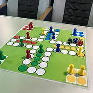 Board game on the Halunder Jet